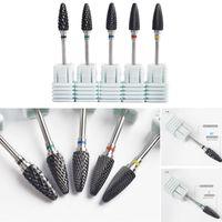 1PCS 블랙 컬러 프로페셔널 세라믹 네일 아트 연마 드릴 비트 총알 비트 전기 매니큐어 밀 네일 파일 도구
