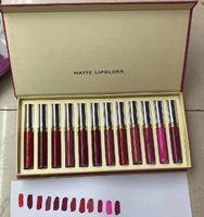 2021 Maquiagem Lip Gloss 12Color / Set MAQUILLAGE Marca Make Up Matte Lipgloss Set