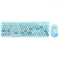 Keyboard Mouse Combos Arrivée-Wireless-Wireless et 2.4GHz Couleur Roulette 104 Touches pour Windows XP / Win7 Win8 Win101