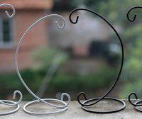 Soporte de la vela de la boda del hierro Marruecos marroquí Candlestick Bola de cristal colgante Soporte de soporte