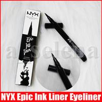 NYX Epik Mürekkep Liner Siyah Göz Kalemi Başlı Makyaj Sıvı Siyah Renk Eyeliner su geçirmez Kozmetik Uzun Liner Kalıcı