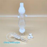 Hot populaire New Wave Nectar Collectorx sertie d'un quartz 14mm Nail Un connecteur Plastical Un bol en verre pour verre de paille Bongs aa