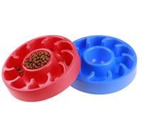 애완 동물 그릇 플라스틱 개 고양이 보울 개는 천천히 식사 피더 요리 아래로 개 그릇 GGE2088 먹이 느린 식사를 방지 과식 건강한 공급