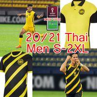 2020 2022 Malásia National Soccer Jersey 20 21 Malásia Home Amarela Away Black Safawi Rasid Talaha Norshahrul Ldlan Homens Football Camisa