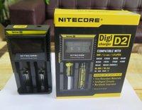 100 % 원래 Nitecore D2 유니버설 충전기 18650 16340 26650 14500 22650 18490 18350 배터리 Nitecore LCD 디스플레이 배터리 충전기