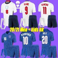 Men + kids kit 20 21 SANCHO ENGLAND 축구 유니폼 홈 어웨이 2020 2021 RASHFORD DELE 케인 스털링 축구 셔츠