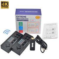 4K 휴대용 비디오 게임 콘솔 미니 HD 게임 박스 캔 스토어 568 게임 레트로 콘솔 무선 컨트롤러 2.4G EXTREME 지원 TF FC NES