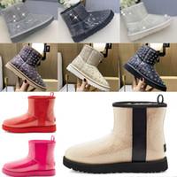 2021 Designer Clássico Lã Cashmere Clear 20 Short II Triplete Austrália Mulheres Mulheres Boot Inverno Botas de Neve Mini Furry Botas australianas