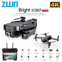 ZWN SG107 Мини Дрон с 4K Wi-Fi FPV HD Dual Camera Quadcopter Оптический поток RC Dron Gesture Control Детская игрушка VS E58 E68 SG106 201125