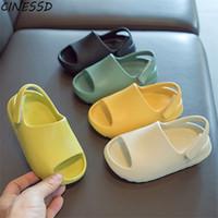 Bebê criança crianças adultos slip-on moda sandálias meninos meninas espuma praia slides de verão osso resinchildren sapatos de água leves y0426