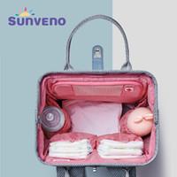 Sunen novo fralda saco mochila grande capacidade à prova d 'água saco kits múmia maternidade viajar mochila mochila y200107
