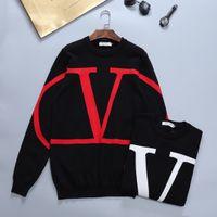 AB Boyutu erkek Kazak Suit Kapşonlu Rahat Moda Renk Şerit Baskı Asya Boyutu Yüksek Kalite Vahşi Nefes Uzun Kollu T-Shirt 100256