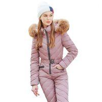 Зимний лыжный костюм Женщины Высокое Качество с капюшоном лыжная куртка + брюки Снег Теплый ветрозащитный лыжный лыжный лямбе