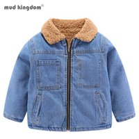Mudkingdom 아기 소녀 소년 데님 가을 데님 재킷이 두꺼워 진 코트 아동 의류 아동 자켓 여자 201110