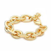 Volo Punk Big Link Bracelet Catena Bracciale con cristallo Gold Color Femme Braccialetti per le donne Gioielli di moda Pulseras