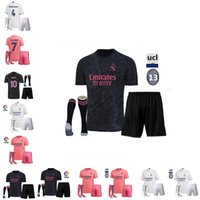2020 Real madrid le football Jersey Benzema JOVIC Modric ASENSIO Ramos Bale RISQUE 20 21 homme adulte + enfants chaussettes kit sport de football t-shirt