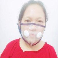 Nuovo Halloween panno Lip Lingua Lavare ripetutamente Anti Spitting Tpu maschera trasparente visiva