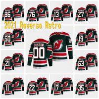 New Jersey Devils 2021 Retro Retro Jersey Jack Hughes Corey Crawford PK Subban Nico Hischier Wayne Simmonds Cory Schneider Brodeur Formalar
