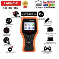 X431 CR-HD Pro 12v Auto 24 V Truck Diangnostico strumento completo OBD2 Code Reader Scanner Battery Test Test PK CR3001 CR30081