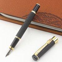 فاخر التنين تصميم نافورة القلم الأسود ماتي الذهب كليب ماركة الأعمال مكتب هدية الحبر أقلام المدرسة الكتابة القرطاسية