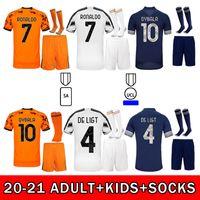 2020 Soccer Jersey Ronaldo Dybala Morata دي Ligt Kulusevski Arthur McKennie 20 21 عالية الجودة للأطفال الكبار كيت + الجوارب قميص كرة القدم