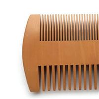 Burlywood Dupla Sidieve Cabelo Cabelo Super Barba De Madeira Grosso Norte Combs Cabeleireiro Estilo Escova de Saúde Cuidados de Saúde Barbeiro EEF3883
