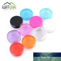 100pcs / lot 3g 5g Mix Renk Küçük boşaltın Kozmetik Doldurulabilir Şişeler Plastik Göz Farı Makyaj Yüz Kremi Kavanoz Pot Konteyner Şişe