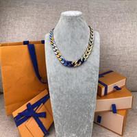 2021 Dernier lancement Français Masters Conception de Bracelets de luxe Chaîne Liens de la chaîne Patchs Bracelet Coloré Collier Bijoux V Lettre