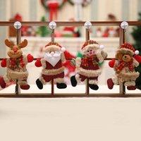 Новогодние украшения Xmas Tree ручка двери игрушки куклы кулон Санта-Клаус снеговика Elk висячие украшения для дома Новый год партии подарков GGE1990