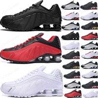 2021 Koşu Ayakkabıları Metalik Renk Teslim R4 Erkek Chaussures Oz NZ 301 Spor Sneakers Siyah Beyaz Arttırılmış Yastık Zapatillas 40-46