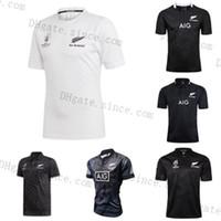 2020 Yeni Varış Tüm Siyah Süper Rugby Formalar Sevens Rugby Gömlek Maillot Camiseta Maglia Tops Mens S-3XL Kiti