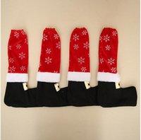 Ornamente Tischbeindecken Fashion Home Stuhl-Beine-Abdeckung Weihnachten Snowflake-Dekor Stain Verschleißfestigkeit Hocker Fuß Hülse 4 2hba G2