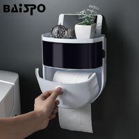 Baispo портативный туалетной бумаги держатель пластиковых водонепроницаемой ткани коробка настенный туалетной бумаги дозатор домашнего ванной комнаты стойка C1020