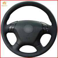 For 2004 2005 2006 2007 7 Black Artificial Leather Car Steer...