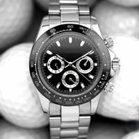 Мужские мужские часы часов дня весь набор работает PAT RIZZI Автоматический мастерЧасы Движение Механический Монте-де-Люкс Оролологии Стальные наручные часы