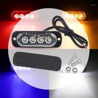 비상 조명 4 LED 가벼운 자동차 트럭 경고 SUV 차량 요트 오토바이 12V 범용 방수 울트라 - THIN1