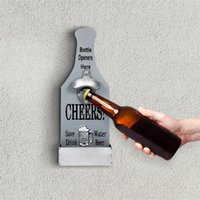 Apribottiglie di birra creativa Apriscatole in legno a parete a muro a mano casa ristorante decorazione della parete vino bottiglia da cucina in grado di aprire l'apriscatole stile vintage 201204