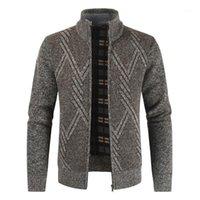 Erkek kazak negizber 2021 sonbahar kış erkek kazak rahat standı yaka kalın hırka erkekler moda sıcak palto men1