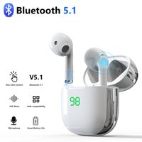TWS سماعات الأذن اللاسلكية بلوتوث 5.1 لاسلكية شحن سماعات ستيريو 9D مع مايكروفون لفون سامسونج XIAOMI هواوي