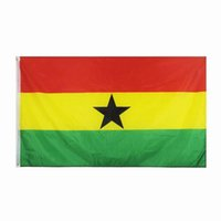 Ghana-Flagge Hohe Qualität 3x5 FT 90x150cm Flags Festival-Party-Geschenk 100D Polyester Indoor Outdoor Printed Fahnen Banner