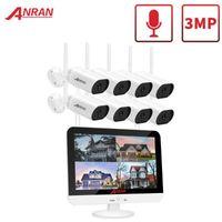 Anran 3MP Güvenlik Gözetleme Kamera Kiti 13-inç Kablosuz Monitör NVR Sistemi Wifi Ses CCTV Kamera Kiti Açık System1