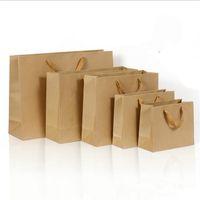 2016 10 tamanhos de estoque e saco de papel personalizado saco de papel marrom saco de papel kraft com alças Atacado 401 J2