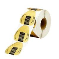 Professionnel Factory Nails Guide d'extension Outils de papier 100pcs / Extension Formes de papier à ongles de salon pour magasin de gros