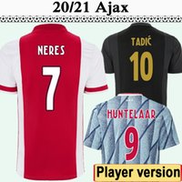20 21 Ajax Version Player Mens Soccer Jerseys Tadic Huntelaar Klaassen Neres Klaiber Martinez Accueil 3ème Chemises de football Uniformes