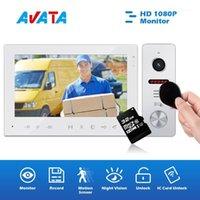 Téléphones de porte vidéo Interphone avec dispositif de vision nocturne cloche caméra interphone pour appartement maison villas1