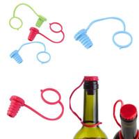 Anti-kayıp Silikon Şişe Tıpa Asılı Düğme Kırmızı Şarap Bira Cap Tak Şarap Tıpaları Bar Araçları FFA335 500 adet 43 J2