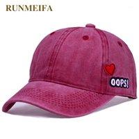 Ballkappen Runmeifa Denim Baseball-Kappe Brief Serie 2021 Hochwertiger Stil verkaufen Outdoor-Sport-Hut-Frauen1