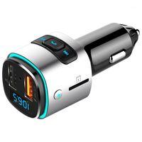 NOVEL-BC41 자동차 FM 송신기 무선 자동차 키트 뮤직 플레이어 12V AUX 모듈레이터가있는 듀얼 USB PORT1