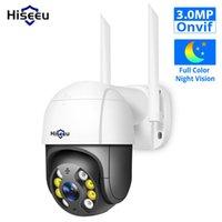 كاميرات Hiseeu 3MP PTZ WIFI كاميرا في 1536p 1080 وعاء 4X التكبير الرقمي سرعة قبة IP الصوت P2P ONVIF Network CCTV المراقبة