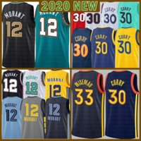 2021 New Ja 12 Morant Basketball Jersey Stephen 30 Curry Mens James 33 Wiseman Draymond 23 Jóvenes Niños Klay 11 Thompson Negro